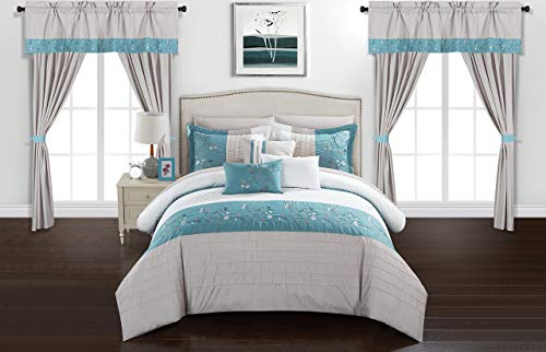 Chic Home CS8061-AN Comforter Sets, Queen, Blue