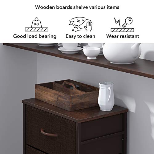 ROMOON Dresser Organizer with 4 Drawers, Fabric Dresser Tower for Bedroom Bundle Dimensions: 17.7 x 11.7 x 36.Four inches