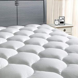 "MASVIS King Mattress Pad Cover 8-21""Deep Pocket - Pillow Top Quilted Mattress Topper Overfilled Snow Down Alternative"