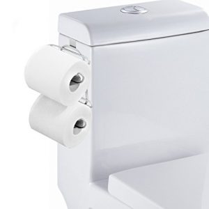 TQVAI Over The Tank Toilet Paper Roll Holder for Bathroom Tissue, Chrome Finish