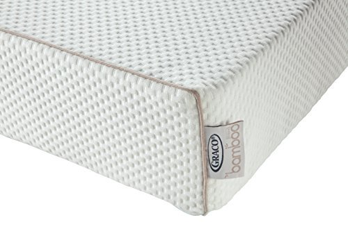 Graco 6 Inch Dual-Comfort Baby Crib and Toddler Mattress (White) – 2-Sided Mattress for Baby and Toddler with Ultra-Soft, Removable, Water-Resistant Outer Cover, Fits Standard Full-Size Crib