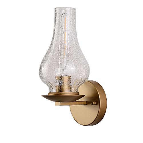 Modern Sconce Wall Light Fixture Retro Living Room/Bedroom Bedside Bubble Glass Shade Wall Lamp Gold Wall Lighting