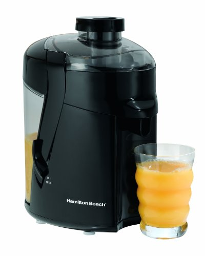 "Hamilton Beach HealthSmart Juicer Machine, 2.4"" Feed Chute, Centrifugal Extractor, Easy to Clean, BPA Free, 400W, Black (67801)"
