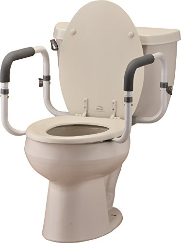 NOVA Toilet Rails, Padded Handrails for Toilet Seat, Safety Support Frame for Bathroom Toilet, Quick & Easy Installation