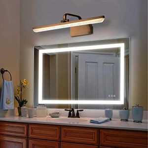 Reflexon 32x40 inch Bathroom Vanity Mirror, LED Backlit+Wall Mounted+Defogger&Dimmable Touch Switch + UL Listed + Polished Eadge &Frameless + 5500K Cool White+3000K Warm + CRI>90 + Vertical&Horizontal