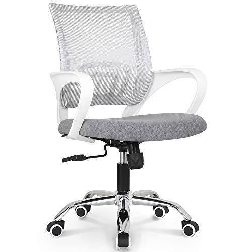 NEO CHAIR Office Chair Computer Desk Chair Gaming - Ergonomic Mid Back Cushion Lumbar Support with Wheels Comfortable Brown Mesh Racing Seat Adjustable Swivel Rolling Home Executive
