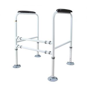Doremy Bathroom Safety Toilet Rail Stand Alone Adjustable Handrail Frame Suction Cups for The Elderly and The Pregnant Weak Patients Disabled Postoperative Safe Support Aid