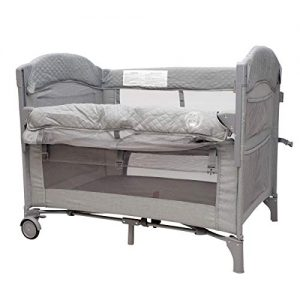 Baby Bedside Sleeper Bassinet Bed: 2-in-1 Portable Crib for Newborns, Side Sleeper for Babies, Toddler Play Pen