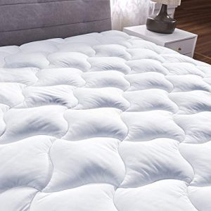 YOUMAKO Full Quilted Fitted Mattress Pad Cover Pillowtop Overfilled Cooling 8-23 Inch Deep Pocket Bed Topper with Sonw Down Alternative