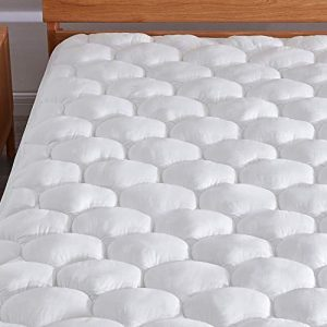 "Murpheeya Cooling Cotton Mattress Pad Topper Bed Cover Protector with Deep Pocket Fits Up to 8""-21"" for Queen King Twin Full California King"