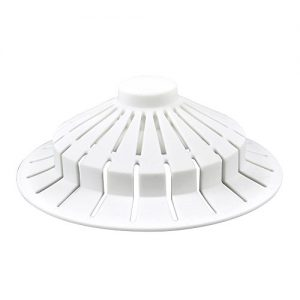 DANCO Universal Bathroom Bathtub Suction Cup Hair Catcher Strainer and Snare | Fits Lift & Turn, Push Button & Trip Lever Bathtub Drains | White (10771)