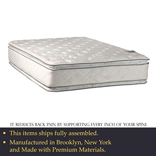 Double sided Pillowtop Innerspring Fully Assembled Mattress And 4-Inch Wood Bundle Dimensions: 80.zero x 60.zero x 16.zero inches