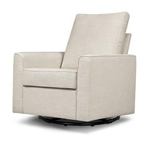 Million Dollar Baby Classic Alden Swivel Glider in White Linen Greenguard Gold Certified
