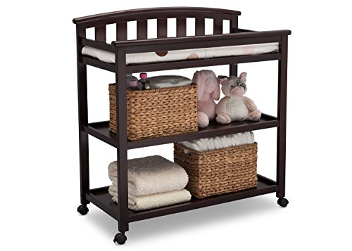 Delta Children Arch Top Changing Table with Wheels and Changing Pad Launch Date: 2017-04-10T00:00:01Z
