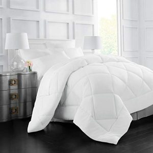 Italian Luxury Goose Down Alternative Comforter - All Season - 2100 Series Hotel Collection - Luxury Hypoallergenic Comforter - King,Cal King - White