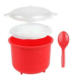 Home-X - Microwave Rice Cooker, 10 Cup Cooker is BPA Free, Easy-To-Use, Low Mess and Steams Rice to Perfection Every Time