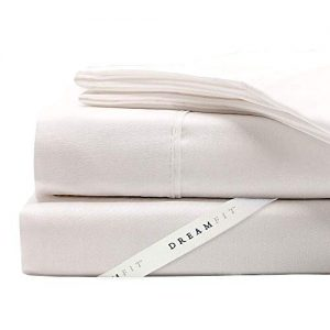 DreamFit Degree 5 Bamboo Split King Sheet Set, White