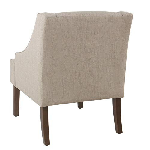 HomePop Swoop Arm Accent Chair, Tan Package deal Dimensions: 27.eight x 25.zero x 33.three inches