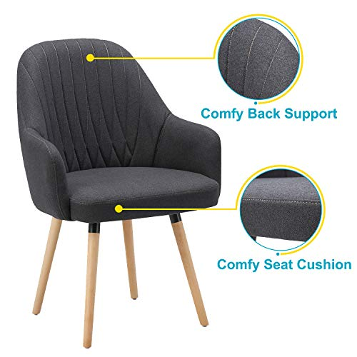 NOVIGO Upholstered Accent Chair with Wooden Leg and Seat Cushion NOVIGO Upholstered Accent Chair with Wooden Leg and Seat Cushion for Modern Guest Reception Living Bed Room Dorm Home Office.