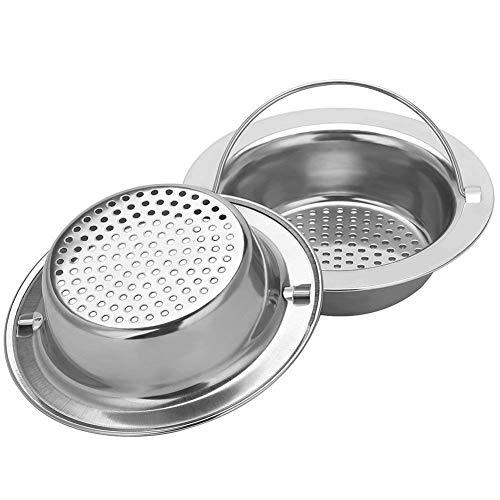 "2PCS Upgrade Stainless-Steel Kitchen Sink Strainer (Hand-Held), Premium Drain Filter Strainer, Large Wide Rim 4.33"" Diameter"