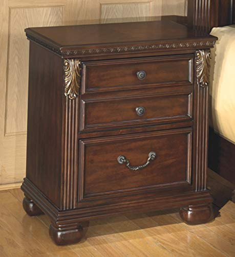 Ashley Furniture Signature Design - Leahlyn Nightstand - Antique Style Package deal Dimensions: 25.zero x 15.9 x 27.6 inches