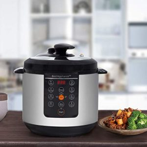 6 Qt Rice Cookers Electric Pressure Cooker Slow Cooker,Multi-Use Programmable For Slow Cook, Saute, Yogurt, Steamer, Warmer
