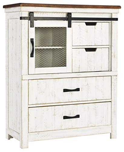 Signature Design By Ashley - Wystfield Four Drawer Chest - White/Brown