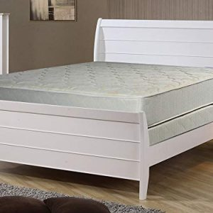 "Continental Sleep Gentle Firm Tight top Innerspring Mattress And 8"" Wood Traditional Box Spring/Foundation Set, Full, Beige"
