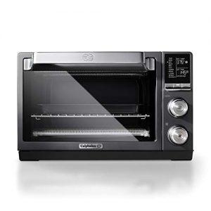 Calphalon Quartz Heat Countertop Toaster Oven, Stainless Steel, Extra-Large Capacity, Black, Dark Gray