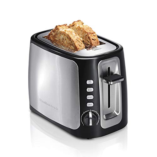 Hamilton Beach 2 Slice Extra-Wide Slot Toaster with Sure-Toast Technology, Shade Selector, Bagel & Defrost, Black (22820)