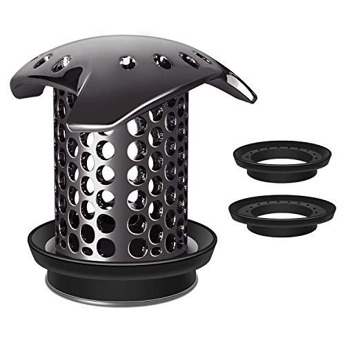 LEKEYF Bathtub Drain Hair Catcher/Tub Drain Cover/Shower Drain Protector/Shower Strainer-Black