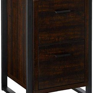 Offex Home Office 2 Drawer Vertical File Storage Cabinet - Dark Chocolate