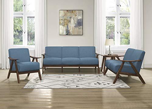 Lexicon 3-Piece Sofa Set, Blue