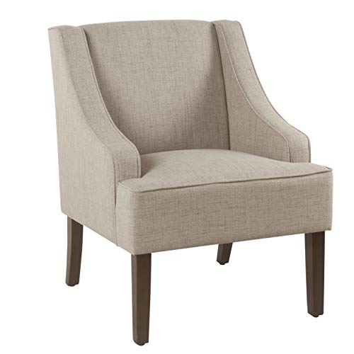 HomePop Swoop Arm Accent Chair, Tan