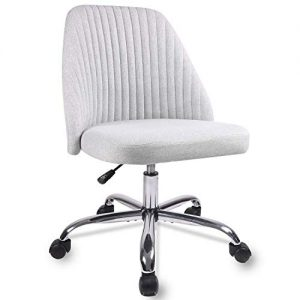 Home Office Chair, Modern Twill Fabric Chair Adjustable Desk Chair Mid-Back Task Chair Ergonomic Executive Chair-Grey