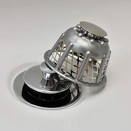 Tubbrella the Most Innovative Bathtub Drain Strainer/Hair Catcher (silver)