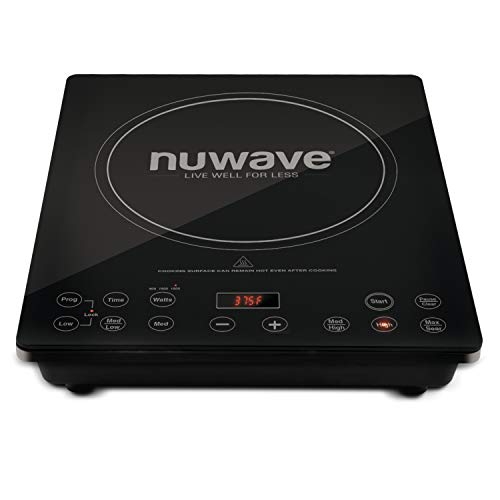NuWave Precision Induction Cooktop Pro Chef Commercial-Grade NSF-Certified 1800-watt Induction Cooktop With Fast, Safe, Powerful Induction Cooking Technology, Automatic Shutoff, Programmable Stage Cooking Capabilities, Delay Feature & Temperature Range Be
