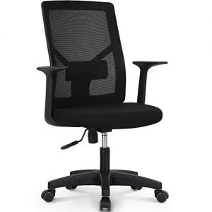 NEO CHAIR Office Chair Computer Desk Chair Gaming - Bulk Business Ergonomic Mid Back Cushion Lumbar Support Wheels Comfortable Black Mesh Racing Seat Adjustable Swivel Rolling Executive