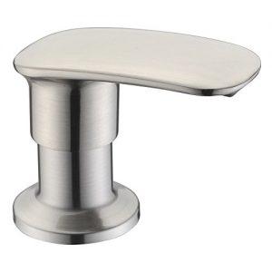 Sink Soap Dispenser WENKEN Stainless Steel Kitchen Sink Soap Dispenser Built in Hand Soap Dispenser Pump Large Capacity 17 OZ Bottle Zinc Alloy Nozzle Brushed Nickel