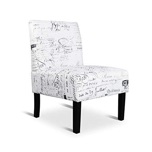 Modern Retro Armless Chair Contemporary Accent Chair for Office Desk Single Chairs for Living Room Bedroom Vanity Chair (Style 2)