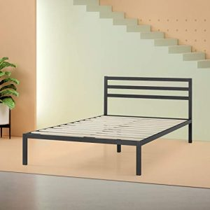 Zinus Mia Modern Studio 14 Inch Platform 1500H Metal Bed Frame With Headboard, Queen