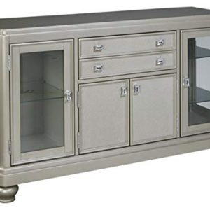 Signature Design by Ashley - Coralayne Dining Room Server - Modern Style - Silver