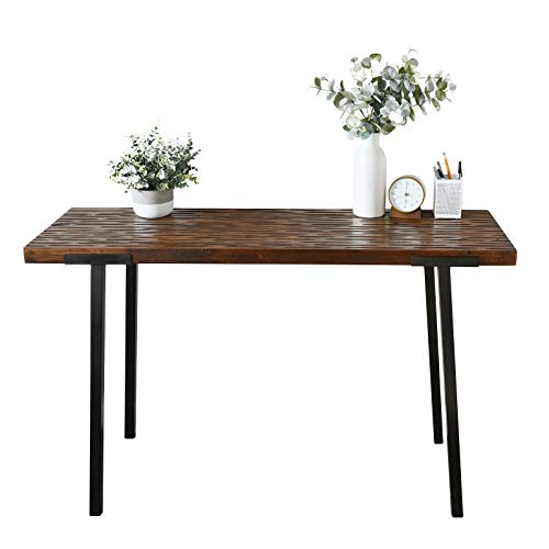"""WELLAND Solid Wood 47"""" Console Table,Kitchen Pub Dining Coffee Table High Writing Computer Table,for Narrow Space, Living Room, Dining Room-Sturdy Metal Frame"""