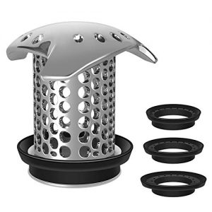 LEKEYE Drain Hair Catcher Shower Drain Hair Trap Stainless Steel Drain Protector Durable Tub Drain Hair Catcher/Strainer Easy Clean Hair Trap For Shower Drain