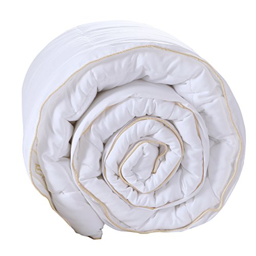 Exclusivo Mezcla Luxury Twin Size White Down Alternative Quilted Comforter Duvet Insert with Corner Tabs/Loops for All Seasons - Soft, Hypollergenic and Lightweight