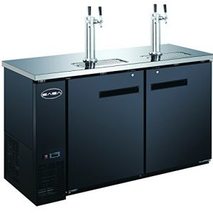 Bar Draft Beer Dispenser Kegerator with Two Taps (24'' inch depth 60'' Length)
