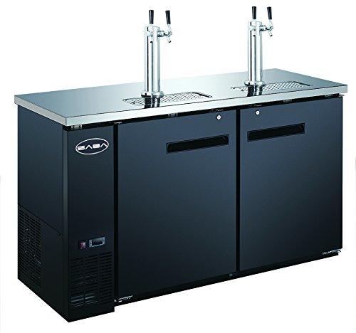 Bar Draft Beer Dispenser Kegerator with Two Taps (24'' inch depth 60'' Length)