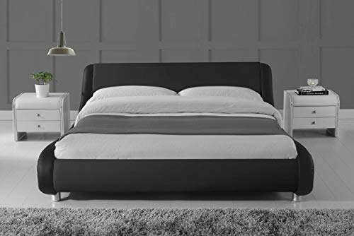 Amolife Queen Size Bed Frame Deluxe Solid Modern Platform Bed Amolife Queen Size Bed Frame Deluxe Solid Modern Platform Bed with Adjustable Headboard,Faux Leather Bed Frame with Wood Slat AmolifeSupport,Black.