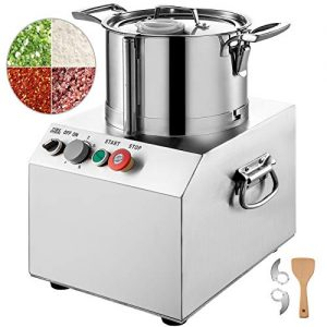 VBENLEM 110V Commercial Food Processor 15L Stainless Steel Grain Grinder 1400W Electric Food Grinder Cutter Mixer Perfect for Meat or Vegetable Stuffing, Fruit or Peanut Jam, Grain Powder,Ginger Garlic Chili