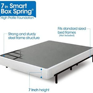 Zinus 7 Inch Smart Box Spring / Mattress Foundation / Strong Steel structure / Easy assembly required, King